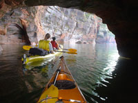 Kayaking the Lake Superior Caves