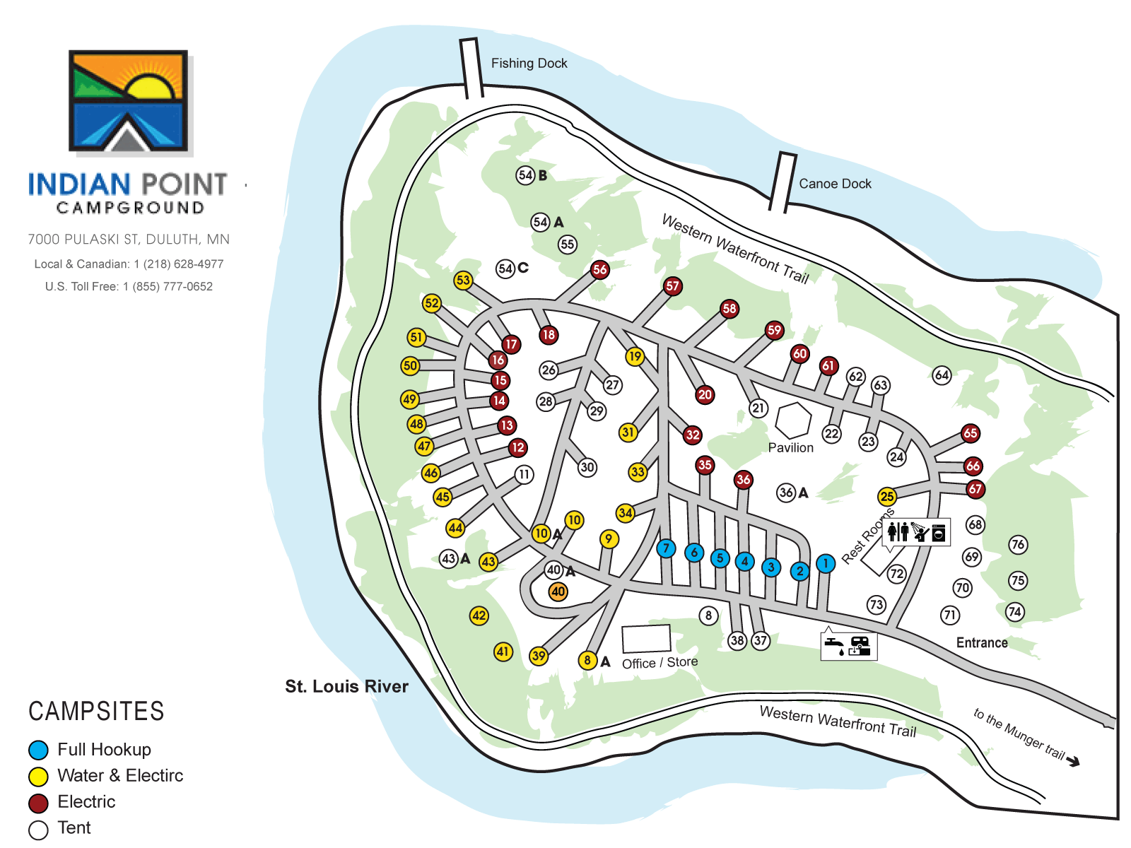 Campsites | Indian Point Campground, Duluth Minnesota